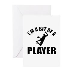 I'm a bit of a player handball Greeting Cards (Pk