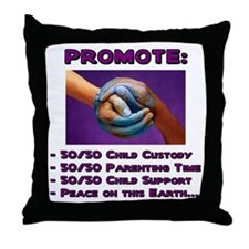 Promote 50/50 World Purple Throw Pillow