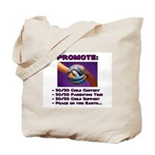 Promote 50/50 World Purple Tote Bag