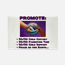 Promote 50/50 World Purple Rectangle Magnet