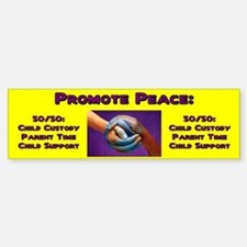 Promote 50/50 World Purple Bumper Bumper Bumper Sticker
