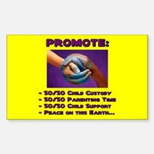 Promote 50/50 World Purple Rectangle Decal