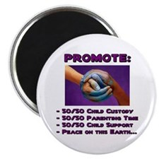 Promote 50/50 World Purple Magnet