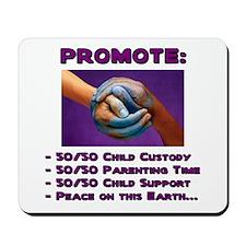 Promote 50/50 World Purple Mousepad