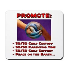 Promote 50/50 World Red Mousepad