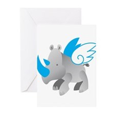 Angel Rhino Greeting Cards (Pk of 20)