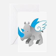 Angel Rhino Greeting Cards (Pk of 20)