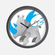 Angel Rhino Wall Clock