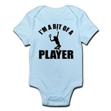 I'm a bit of a player lawn tennis Infant Bodysuit