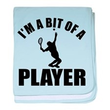 I'm a bit of a player lawn tennis baby blanket