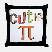 cutie pi Throw Pillow