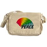 Rainbow Peace Messenger Bag