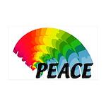 Rainbow Peace 35x21 Wall Decal