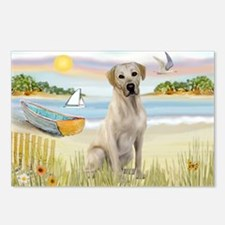 Rowboat & Yellow Lab Postcards (Package of 8)