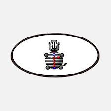 CUTE ZEBRA WITH ZIPPER Patches
