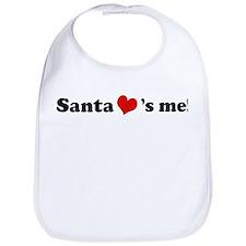 Santa loves me Bib