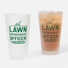 Lawn Enforcement Officer Drinking Glass