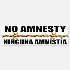 No Amnesty - Ninguna Amnistia Bumper Bumper Bumper Sticker
