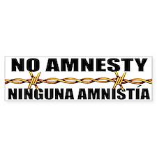 No Amnesty - Ninguna Amnistia Bumper Bumper Sticker