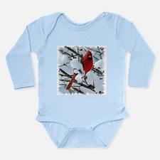 Snow Cardinal Long Sleeve Infant Bodysuit