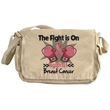 Fight is On Breast Cancer Messenger Bag
