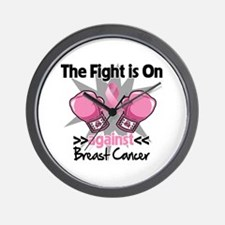 Fight is On Breast Cancer Wall Clock