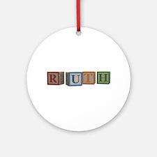 Ruth Alphabet Blocks Ornament (Round)