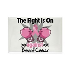 Fight is On Breast Cancer Rectangle Magnet