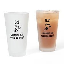 10K Run Crazy Drinking Glass