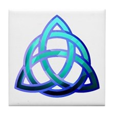 Cool Trinity knot Tile Coaster