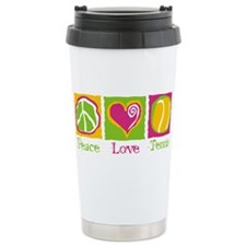 Peace Love Tennis Travel Mug
