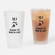 13.1 Run Crazy Drinking Glass
