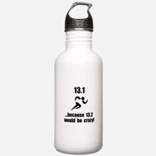13.1 Run Crazy Water Bottle