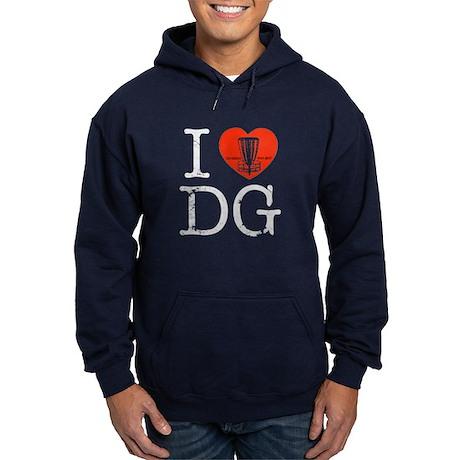 I Heart Disc Golf Hoodie (dark)