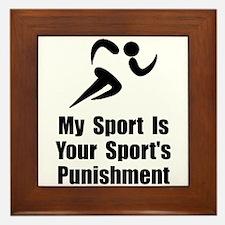 Running Punishment Framed Tile