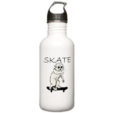 Skate Cat Water Bottle