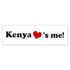Kenya loves me Bumper Bumper Sticker