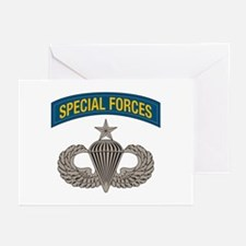 Airborne Special Forces Senior Greeting Cards (Pk