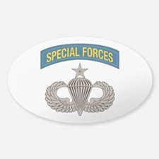 Airborne Special Forces Senior Sticker (Oval)
