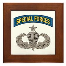Airborne Special Forces Senior Framed Tile