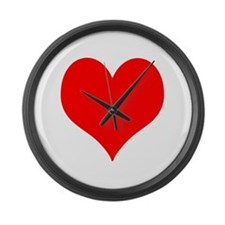Red Heart Large Wall Clock