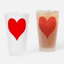 Red Heart Drinking Glass