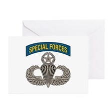Airborne SF w Master Wings Greeting Cards (Pk of 1