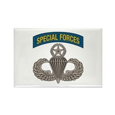 Airborne SF w Master Wings Rectangle Magnet