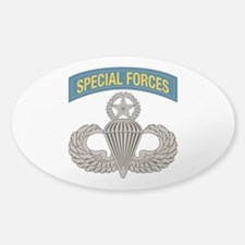 Airborne SF w Master Wings Sticker (Oval)