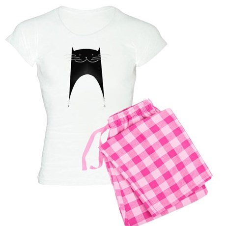 Cute Black Cat Women's Light Pajamas