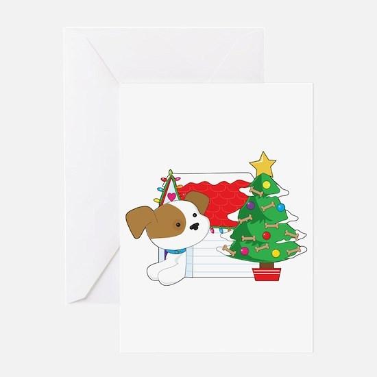 Christmas Dog House Greeting Card