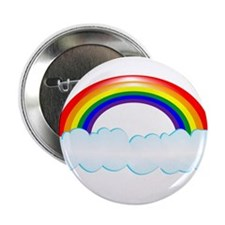 """Rainbow with clouds 2.25"""" Button"""