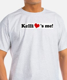 Kelli loves me Ash Grey T-Shirt