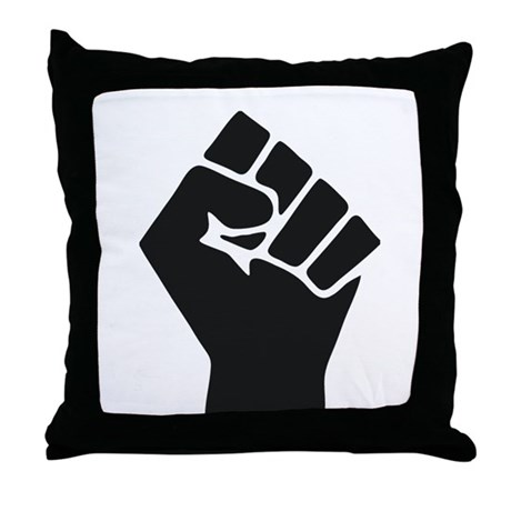 Occupy Fist Throw Pillow